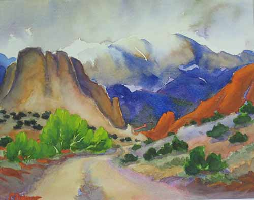 Road To Garden Of The Gods Pam Furumo Rocky Mountain
